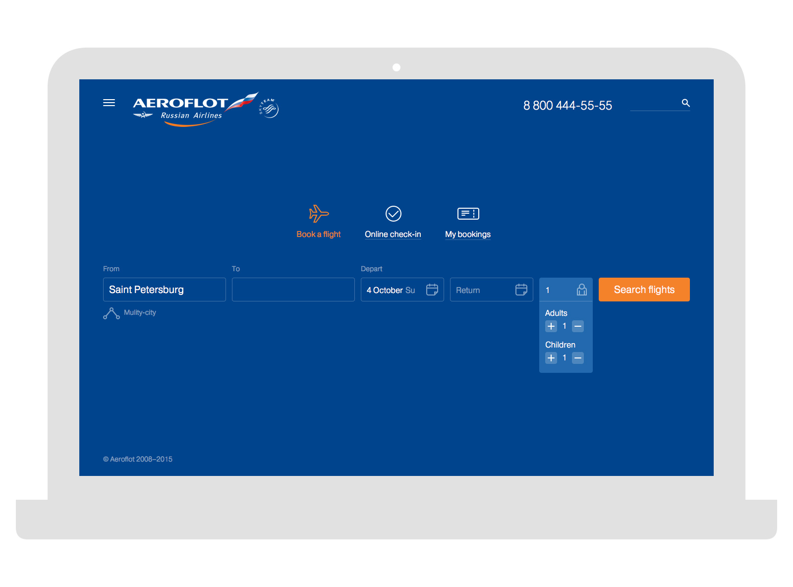 aeroflot russian airlines website